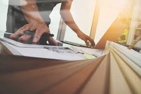 Interior Designer Laptop Interior Designer Hand Working With New Modern Computer