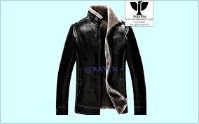 slim cut 08 men s genuine leather fur lining jacket