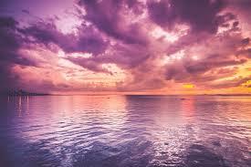 Sunset Ocean Purple Free Photo On Pixabay