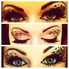cheetah print face makeup leopard print eyeshadow makeup tutorial you