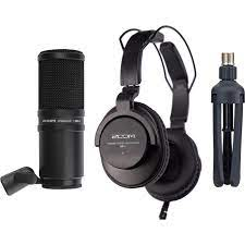 Zoom ZDM-1 Podcast Mic Pack with Headphones, Windscreen,