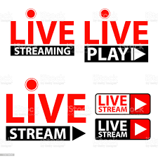 Set Of Live Streaming Icon Red Button Live Web Tv Online Broadcasting Online  Stream Template Isolated On White Background Vector Illustration For Show  Performance Video Logo Play Media News Tag Stock Illustration -