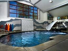delightful designs ideas indoor pool. This Indoor Plunge Pool Stands Out From The Rest With Its Delightful Water Slide And A Designs Ideas