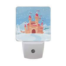 Fairy Castle Night Light Led Night Light Auto Dusk To Dawn Sensor Fairy Tales Winter