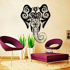 Small Picture Aliexpresscom Buy Living Room Wall Art Sticker Indina Elephant