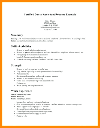 Dental Assistant Resume With No Experience Yuriewalter Me