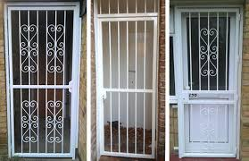 metal security door. RSG3000 Security Metal Gates With Panels On Several Domestic Applications. Door