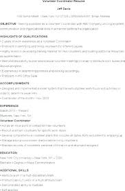 Resume Template For Volunteer Work Nfcnbarroom Com
