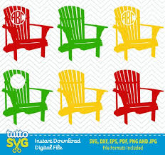 adirondack chair silhouette. Adirondack Chair SVG Files Silhouette Studio Cricut By TuttoSVG