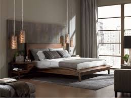 bedroom modern design. White Finish Mahogany Wood Bed Frame Modern Master Bedroom Ceiling Designs Wooden Side Table Black Rounds Rugs Lamps Combined Design