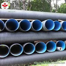 corrugated plastic drain pipe large diameter solid corrugated plastic drainage pipe for munil engineering rain sewage corrugated plastic drain pipe