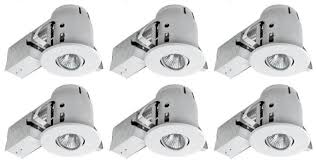 full size of lighting favorable luxlite 4 in recessed led lighting kit gu10 stylish