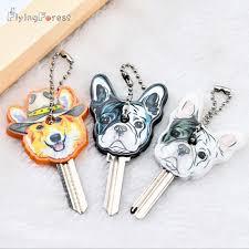 New <b>Cartoon Bulldog Charm</b> Key Cover PVC Cute Pet Dog Cat Key ...