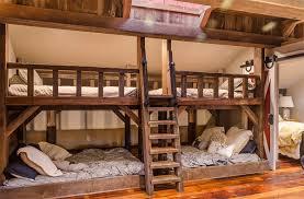 antique barn beams four beds kids bedroom