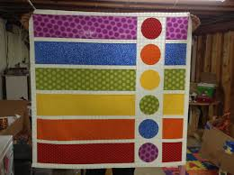 Rainbow Polka Dots – Baby Quilt | Not Your Normal Steam & Now how to quilt it! Adamdwight.com