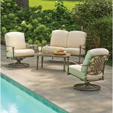 home depot patio furniture cushions. Hampton Bay Cavasso 4-Piece Metal Outdoor Deep Seating Set With Oatmeal Cushions-1714104DSV2 Home Depot Patio Furniture Cushions O