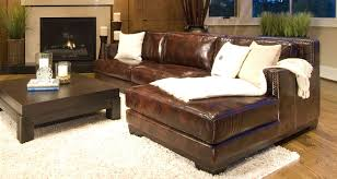 elements fine home furnishings davis top grain leather sectional sofa saddle