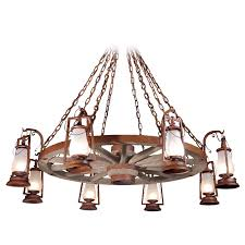 rustic chandeliers made to order in america 49er series wagon wheel chandelier with