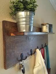Hat And Coat Rack With Shelf Coat Rack with Floating Shelf Wall mounted coat rack Rustic walls 41