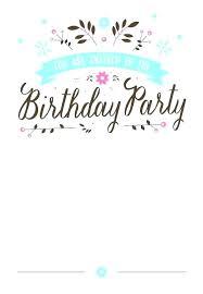 Tween Birthday Party Invitations Free Teenage Girl Printable