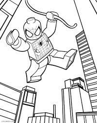 Web slinging spider man coloring page. Lego Spiderman Coloring Pages Coloring Rocks