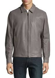 harrington perforated leather jacket michael kors