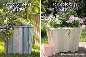 convert side table for flower pots in the garden diy building idea
