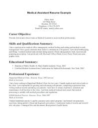 Free Example Resume Unique Examples Of A Medical Assistant Resume Pediatric Medical Assistant