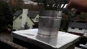 chimney rain cap installation on liner best method flue guru you