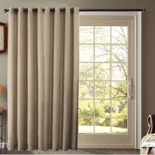 Image of: Fabric Sliding Door Curtains