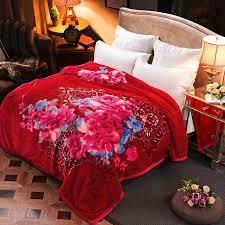 ARNIGU Hot sale Red thick Blankets 200x230cm Queen size warm ... & ARNIGU Hot sale Red thick Blankets 200x230cm Queen size warm blanket/Quilt  Super soft Raschel Adamdwight.com
