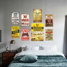 Bedroom Wall Plaques Classy DL Bedroom Art Wall Metal Poster Retro Pub Home Craft Decor Vintage