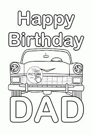 Small Picture Happy Birthday Dad coloring page for kids holiday coloring pages