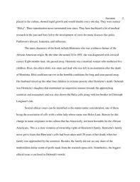 the immortal life of henrietta lacks essay book report the  book report the immortal life of henrietta lacks english essay book report the immortal life of