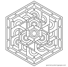 Stunning Geometric Coloring Pages Free 45 In With Geometric Coloring