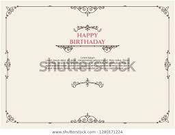 Happy Birthday Greeting Card Postcard Template Stock Vector