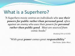 Characteristics Of A Superhero Introduction To Superhero Movies