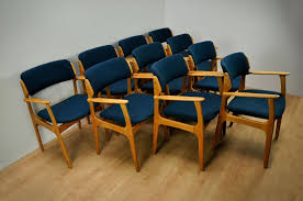 mid century danish model 49 chairs by erik buch for o d møbler 1960s set of 10