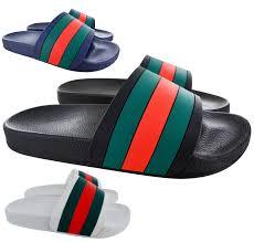 Best Men S Designer Sandals Details About Mens Summer Flip Flops Sliders Designer Beach Mules Pool Slip On Sandals Shoes