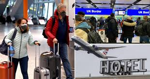 Travellers returning to the uk from 33 red list countries will be sent to quarantine hotelscredit: Qxcz8d1g Ovyrm