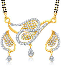 vk jewels peacock design gold and rhodium plated mangalsutra pendant set with earrings vk jewels peacock design gold and rhodium plated mangalsutra