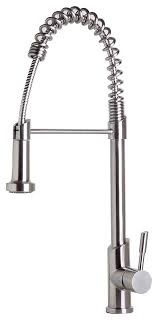 Stainless Steel mercial Spring Kitchen Faucet With Pull Down