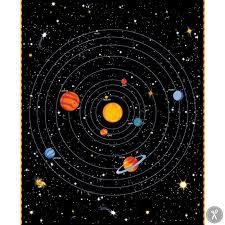 Star Panel Chart Spacewalk Solar Chart Fabric Panel Black In 2019 Solar