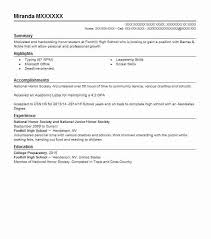 Nhs Resume Examples National Honor Society Resume Example Lincoln High School