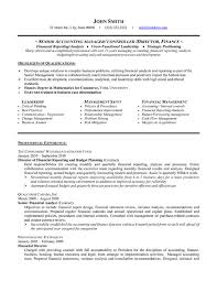 Example Of Accountant Resumes Senior Accounting Manager Resume Sample Template