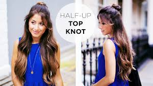 Topknot Hair Style half up top knot hairstyle tutorial youtube 6526 by wearticles.com