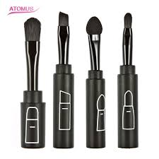 retractable makeup brush. new arrival makeup brush set portable retractable loose powder top quality ht4