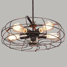 cage light pendant vintage industrial pendant light ceiling lamp rustic metal fan cage chandelier wire cage