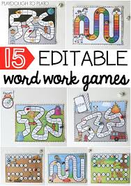 15 word work games i love that they re editable so you can use them as sight word activities word work games spelling practice anything