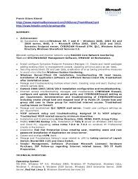 Network System Administrator CV IT Executive Resume